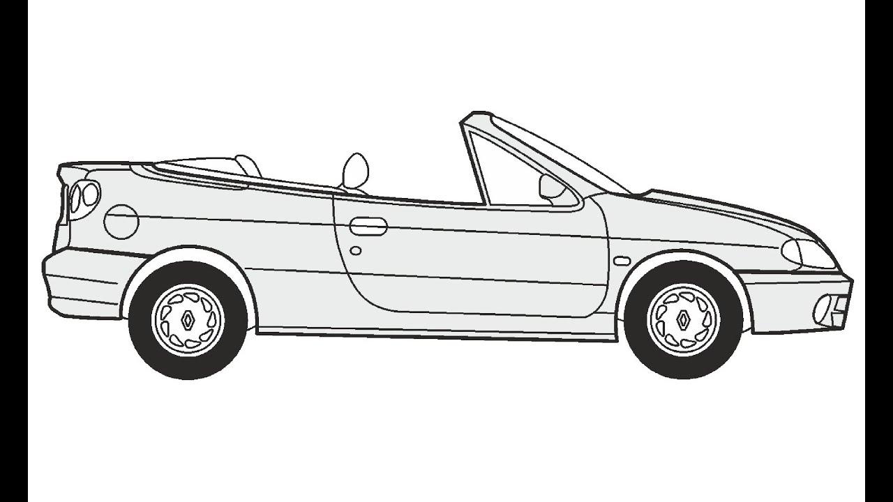 how to draw a renault megane cabrio     u041a u0430 u043a  u043d u0430 u0440 u0438 u0441 u043e u0432 u0430 u0442 u044c