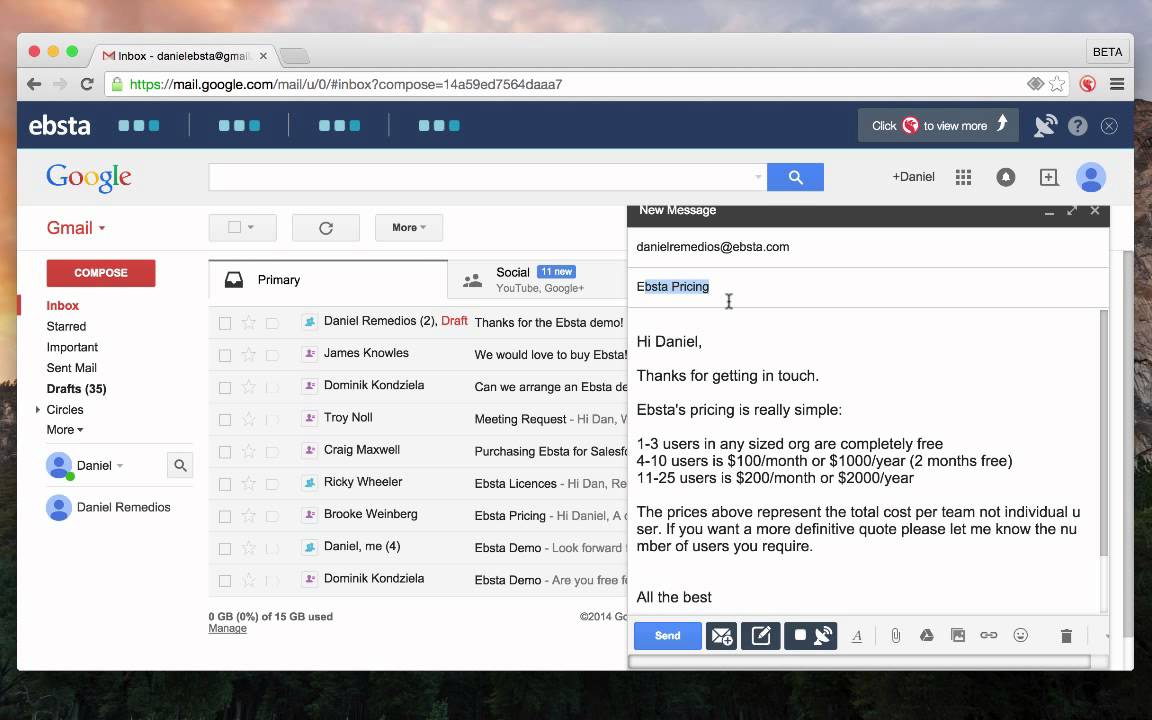Integrate Salesforce Email Templates with Gmail - YouTube