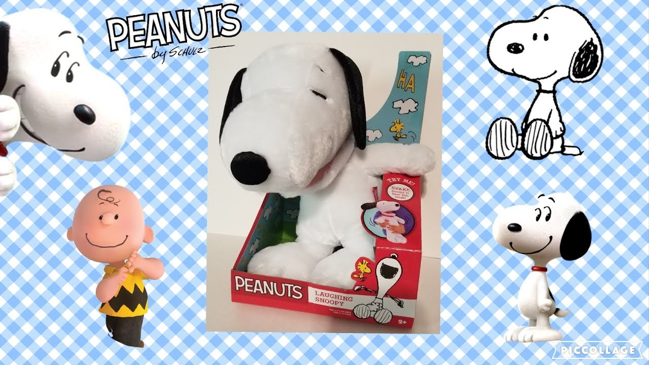 4k Laughing Snoopy Plush Unpacking And Review The Peanuts Movie
