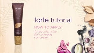 tarte tutorial: how to apply Amazonian clay full coverage concealer Thumbnail