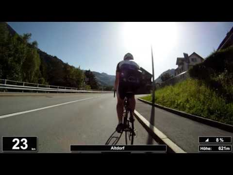 Indoor Cycling Training: Klausenpass (Suisse / Alps) - in full length!!! (Part 1/3)