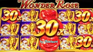 ★FIRST TRY★ WONDER ROSE slot machine BONUS WINS!