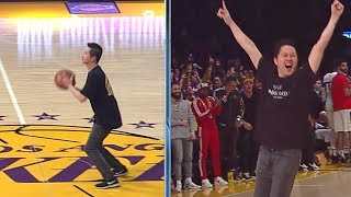 Laker Fan Wins $100k on Half Court Shot -  February 27, 2019   2018-19 NBA Season