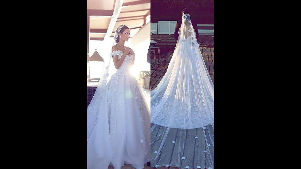 a8001bd04c84 Ball Gown Satin Chiffon V-neck Sleeveless Chapel Train Wedding ...