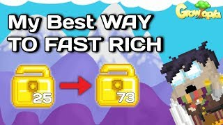 How to Get RICH (Best Way for Beginner - Bahasa Indonesia SUB) - Growtopia How to Rich #3