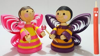 How to make a paper fairy Doll | Quilled Fairy Doll
