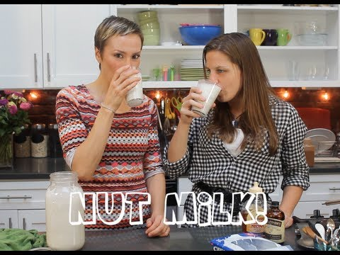 Almond Hazelnut Nut Milk Homemade! (Gluten Free, Vegan)