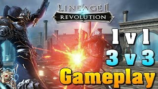 Lineage 2 Revolution - 1v1 & 3v3 Gameplay!