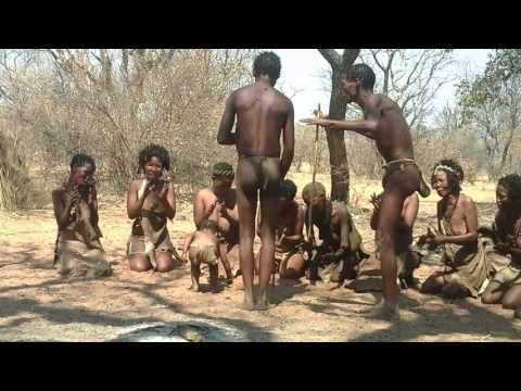 Bushmen  (San) culture in Namibia.