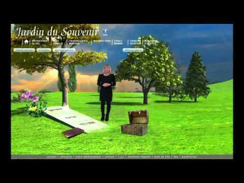 cimeti re virtuel jardin du souvenir pr sentation youtube. Black Bedroom Furniture Sets. Home Design Ideas