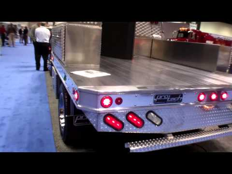 ProTech Aluminum Flatbed/Contractor Style Truck Bed At The NTEA Work Truck Show