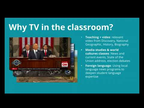 Streaming Morning Announcements and Broadcast TV To The Classroom (September/2017)