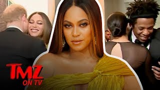 Queen B & Jay-Z Greet Meghan Markle & Prince Harry At 'UK' Lion King Premier | TMZ TV