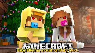 Minecraft Little Kelly : BABY ELLIE HAS A CRUSH ON BABY DUCK! (Roleplay)