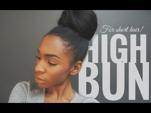 High Bun Tutorial for Short Hair With Extensions