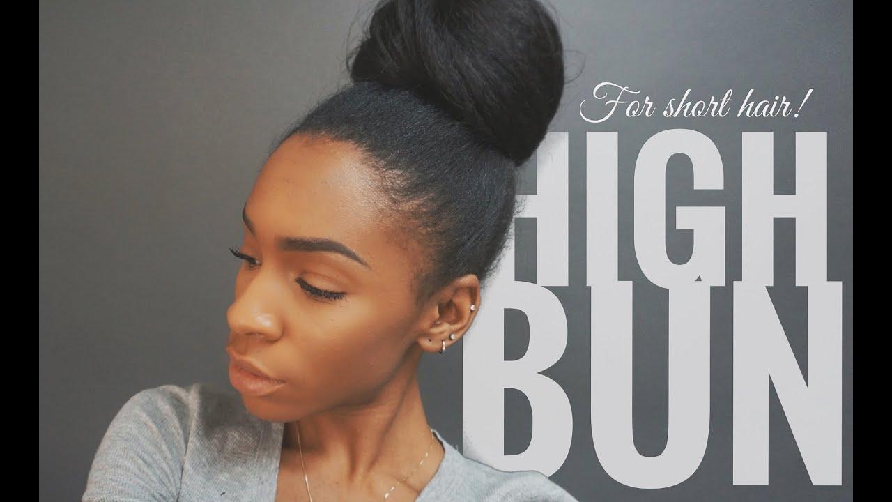 High bun tutorial for short hair with extensions vickylogan high bun tutorial for short hair with extensions vickylogan youtube pmusecretfo Gallery