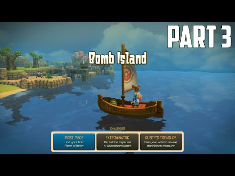 Oceanhorn: Monster of Uncharted Seas - 100% Walkthrough Part 3 [PS4] – Bomb Island