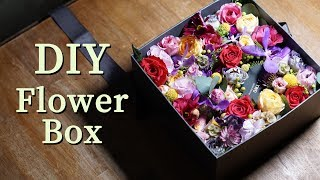 flower box arrangement tutorial / korean flower box ideas