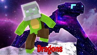 GALAXY DRAGON BRINGS ME TO THE MOON! - Minecraft Dragons