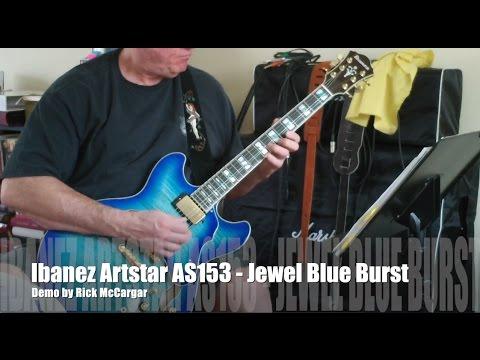 ibanez artstar as153 jet blue burst semi hollow electric guitar demo youtube. Black Bedroom Furniture Sets. Home Design Ideas