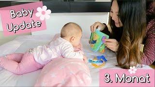 BABY UPDATE 3. MONAT | STILLEN | WACHSTUMSSCHUB | KOPF HALTEN | PEKIP | Mamiseelen