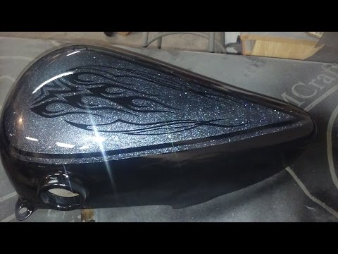 How to paint a motorcycle with spray paint - How to build a motorcycle Ep. #3