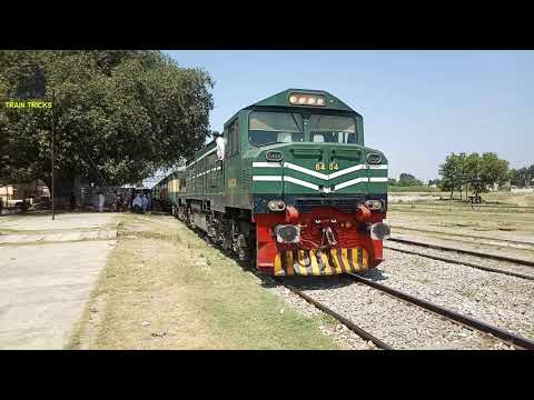 Awam Express 14dn Departure from Attock Railway Station Pakistan Railways