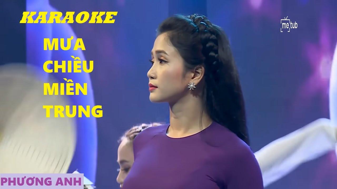 [KARAOKE] Mưa Chiều Miền Trung – Phương Anh (Beat Gốc)