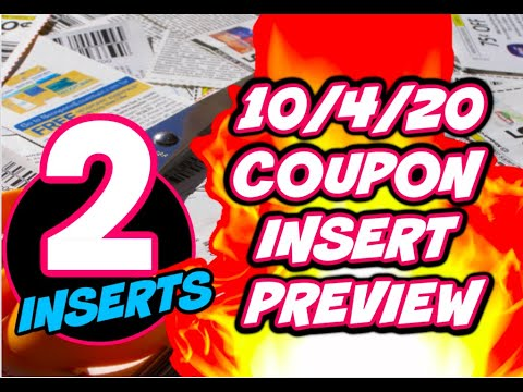 10/4/20 COUPON INSERT PREVIEW | 2 INSERTS & SOME GOOD COUPONS!
