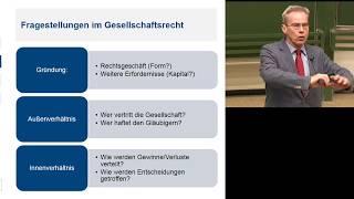 Vorlesung Gesellschaftsrecht 1 - Einführung