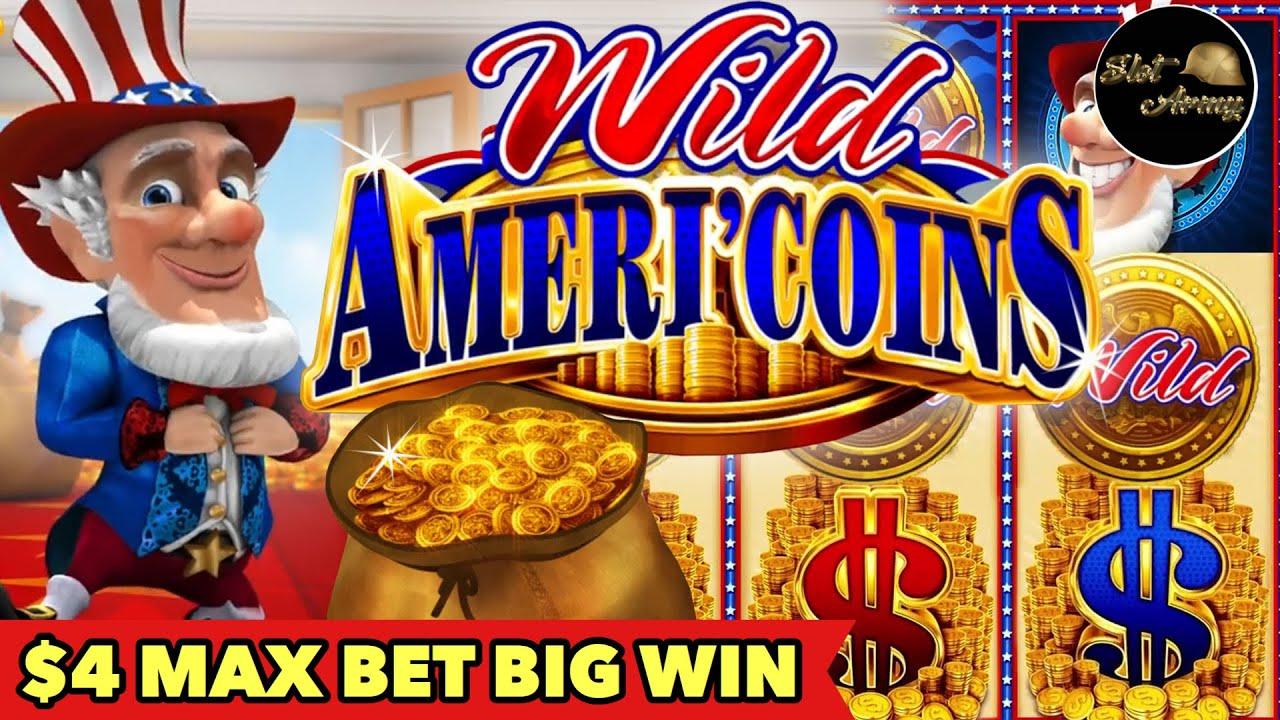 ⭐️AMERI'COIN $4 MAX BET⭐️HAPPY JULY 4th | WILD WILD SAMURAI BIG WIN BONUS SLOT MACHINE