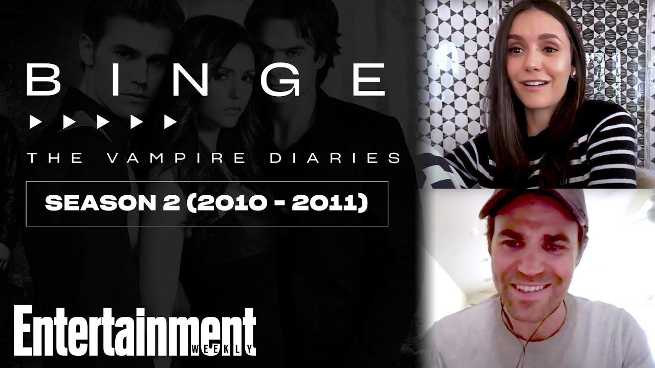 Nina Dobrev & Paul Wesley Break Down 'Vampire Diaries' Season 2 | EW's Binge