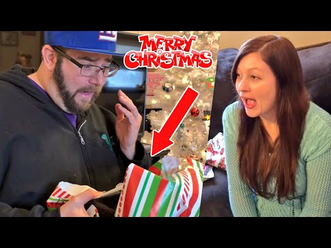 MUST SEE REACTION TO SPECIAL CHRISTMAS GIFT! Grim and Heel Wife Unboxing Christmas Presents 2017!