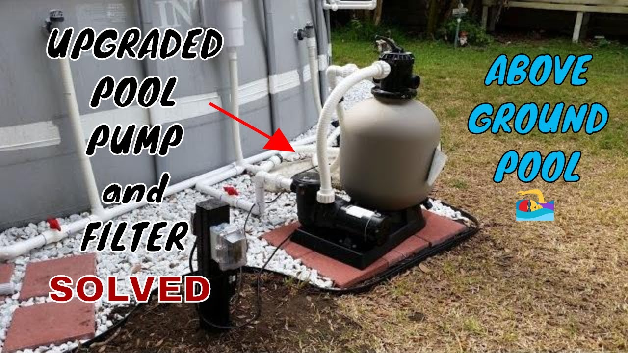 HOW TO Upgrade INTEX POOL with HARD PLUMB, POOL PUMP, SAND FILTER, and SALT  WATER GENERATOR (SWG)