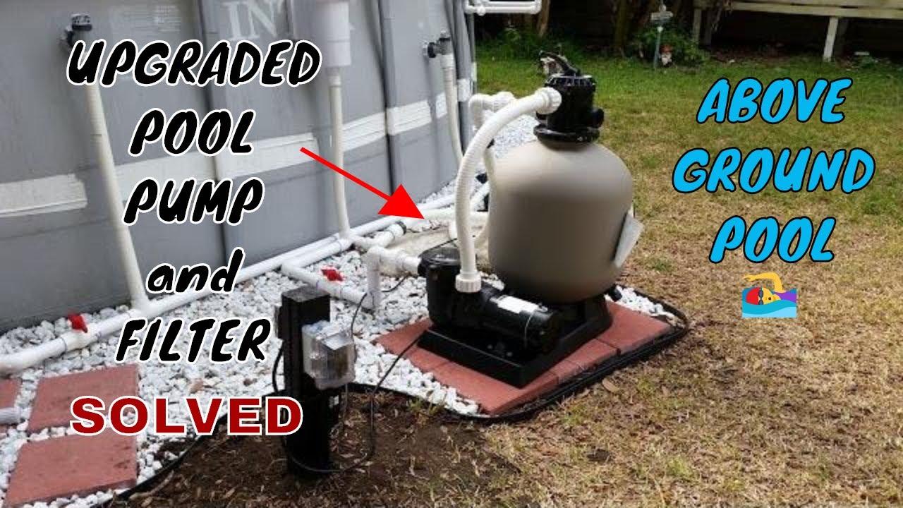 pool pump setup diagram 2000 ford expedition radio wiring intex upgraded hard plumb, pump, sand filter, and salt water generator - youtube