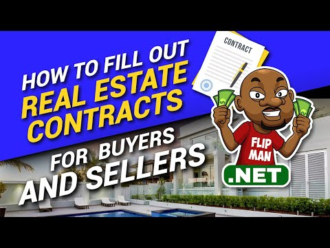 How To Fill Out Real Estate Contracts for Buyers and Sellers Step by Step | Wholesaling Houses