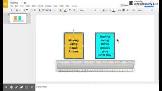 Using baby steps to move objects in Google Slides, Drawing, and Docs