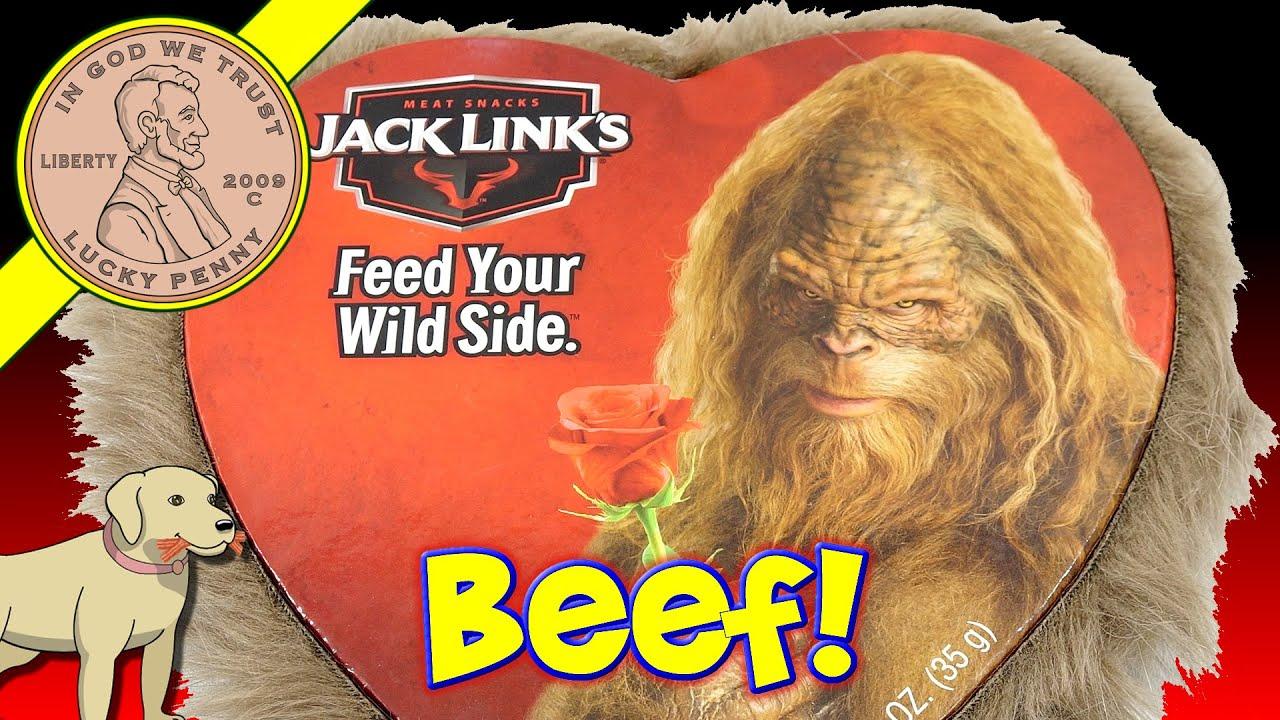 Valentines Day Jack Links Big Foot Furry Heart Beef Jerky