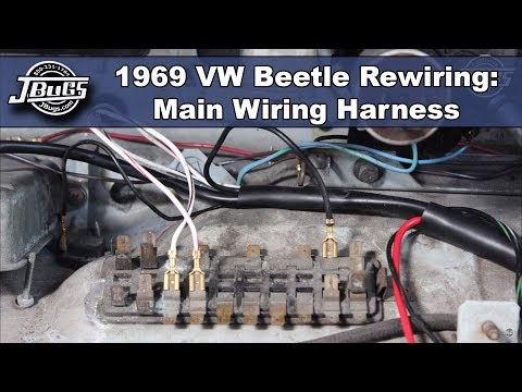VW Complete Wiring Kit, Beetle 1968-1969: VW Parts | JBugs.com on