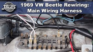 JBugs - 1969 VW Beetle Rewiring - Main Wiring Harness - YouTubeYouTube