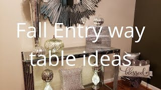 💎🍁Fall Entry way table styling ideas