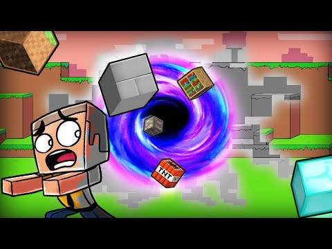 Minecraft | BLACK HOLE DESTROYS THE WORLD! (Living in The Void) thumbnail