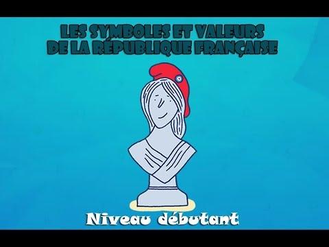【La République française】 Les symboles et valeurs de la République française (niveau débutant) :