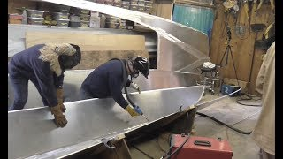 welding aluminum boat from scratch with pushpull gun on pp200