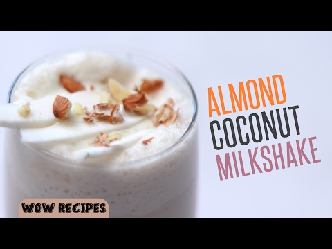 Almond Coconut Smoothie | Healthy Breakfast Smoothies and Milkshakes | Online Kitchen | WOW Recipes