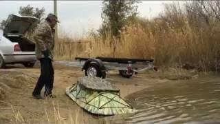 алюминиевая лодка Казбот - 27 скрадок для охоты и рыбалки