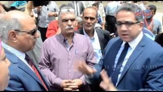 زيارة وزير الاثار ووزير الثقافة ومحافظ كفر الشيخ لمتحف كفر الشيخ