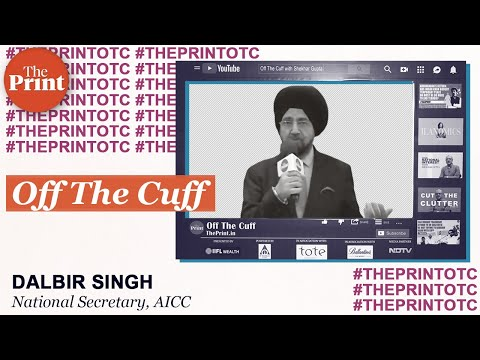 Dalbir Singh at ThePrint's Off The Cuff with Chhattisgarh CM Bhupesh Baghel on 7 December 2019