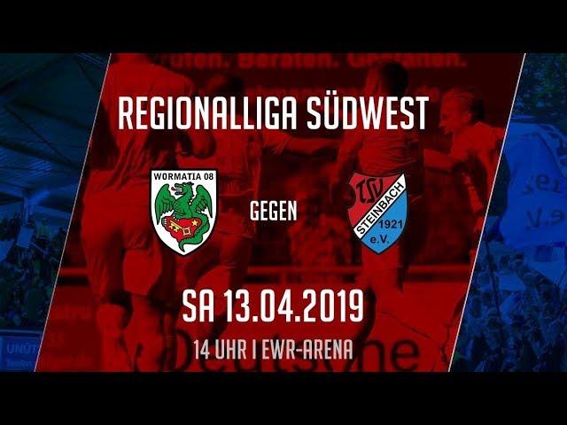 Wormatia Worms - TSV Steinbach Haiger 2:1 (Regionalliga Südwest 2018-19)