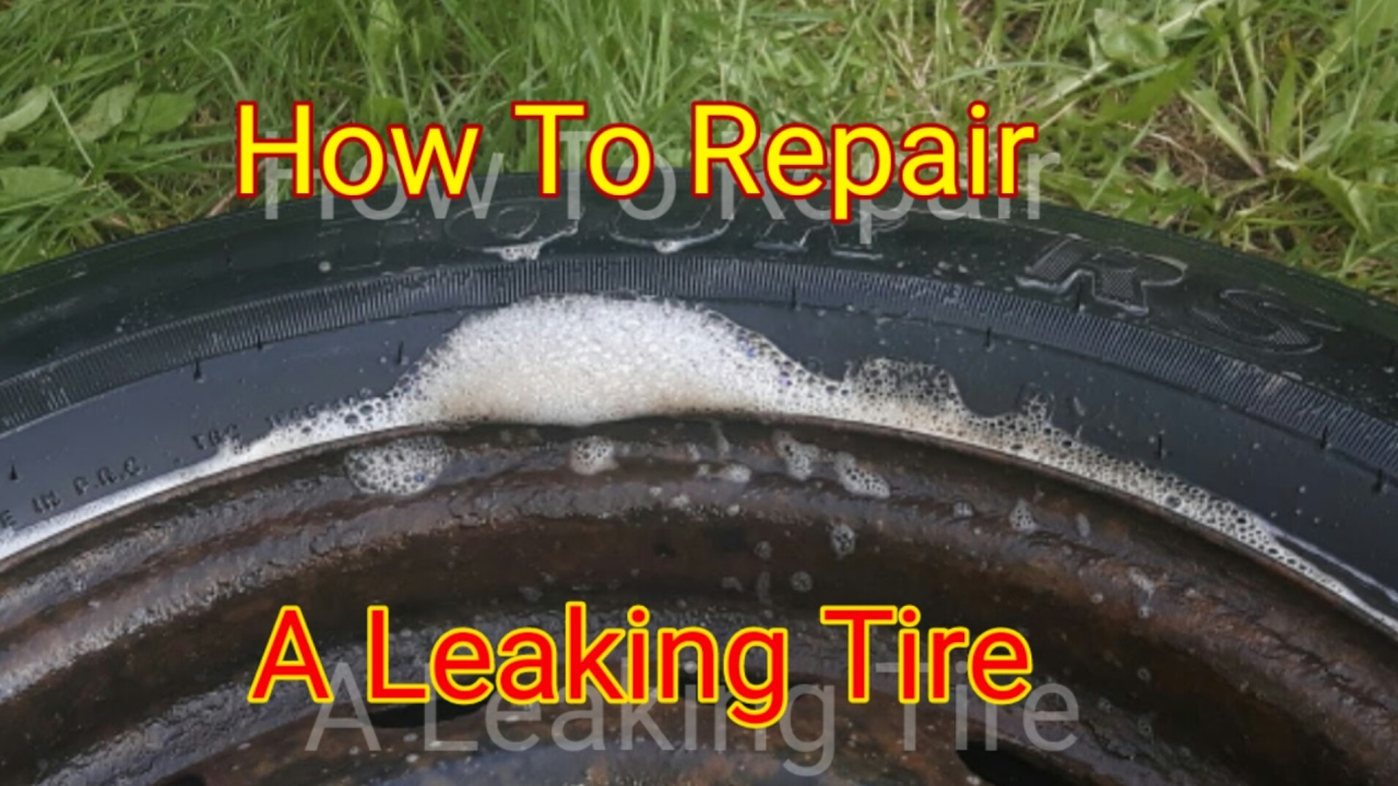 How to fix a leaking wheel rim